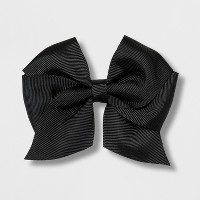Girls' Solid Bow Clip - Cat & Jack™ Black