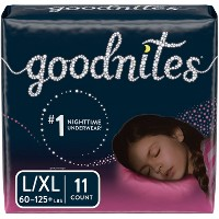 Goodnites Girls' Bedtime Bedwetting Underwear Jumbo Pack - (Select Size)