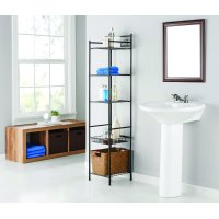 Mainstays 5 Tier Shelf Tower with Shelf Liners - Oil Rubbed Bronze