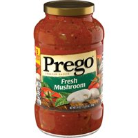 Prego Pasta Sauce, Italian Tomato Sauce with Fresh Mushrooms, 24 Ounce Jar