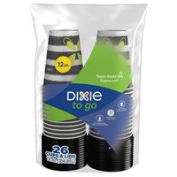 Dixie To Go Printed Paper Cups With Lids, 12oz Hot Cups