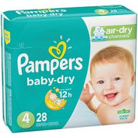 Pampers Baby-Dry Diapers Size 4