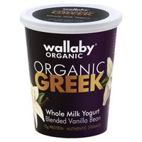 Wallaby Organic Organic Whole Milk Vanilla Bean Greek Yogurt