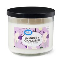 Great Value Lavender & Chamomile Scented Candle, 14.5 oz