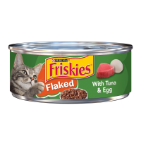 Friskies Wet Cat Food, Flaked With Tuna & Egg, 5.5 oz. Can