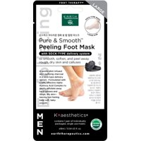 Earth Therapeutics Mens Peeling Foot Mask- Charcoal - SIngle