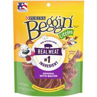 Beggin' Littles Real Meat Dog Treats, Fun Size Original With Bacon