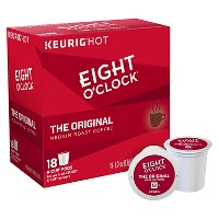 Eight O'Clock Original Medium Roast Coffee - Keurig K-Cup Pods - 18ct