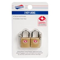 American Tourister 2 Pack key Lock - Gold