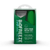 Biofreeze Pain Relief Foot care Set, 3 oz. Foot Cream and Foot Roller
