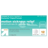 Motion Sickness Nausea Relief Tablet 12ct - Up&Up™