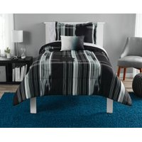 Mainstays Modern Plaid Bed in a Bag Bedding Set