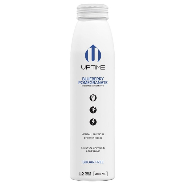 Uptime Energy Drink, Sugar Free, Blueberry Pomegranate