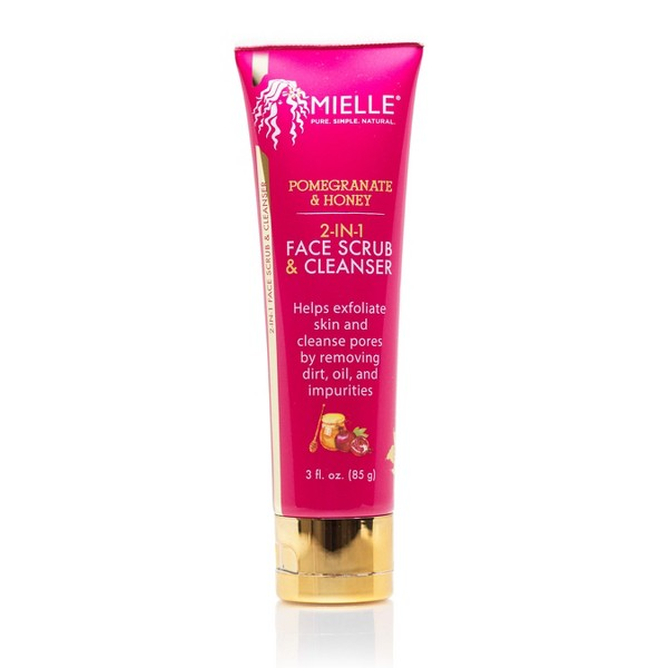 Mielle Organics 2 in 1 Our Pomegranate Honey Face Scrub And Cleanser - 3oz