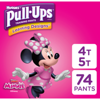 Pull-Ups Girls' Learning Designs Training Pants, Size 4T-5T, 74 Count (Packaging May Vary)
