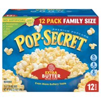Pop Secret Microwave Popcorn, Extra Butter, 3.2 Oz, 12 Ct