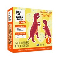 This Bar Saves Lives Chocolate Chip Dino-Mite Snack Bars - 5ct