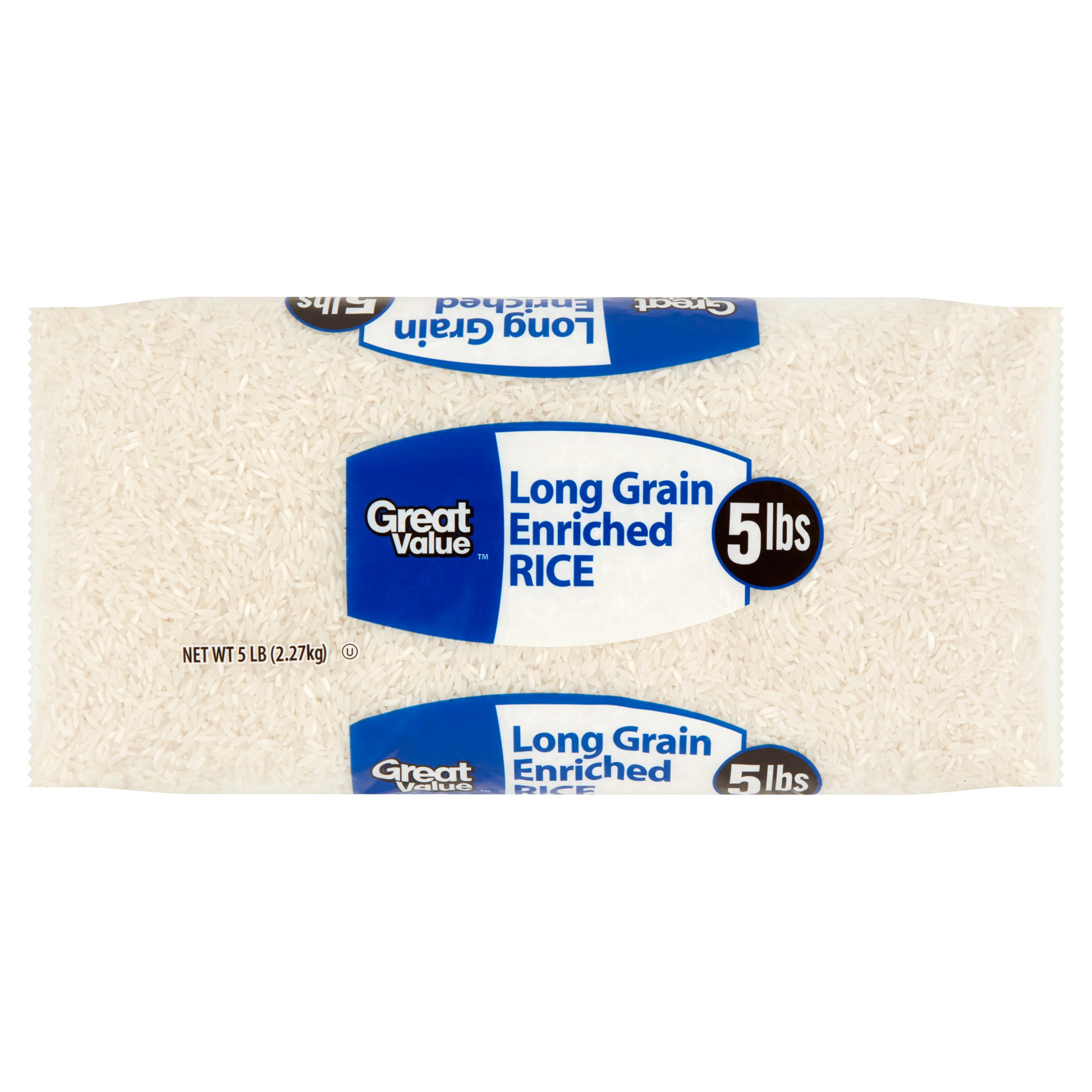 Great Value Long Grain Enriched Rice, 5 lbs