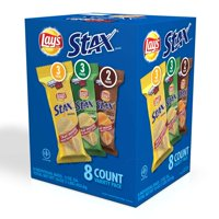 Lay's Stax Original, Sour Cream & Onion and Mesquite Barbecue Variety Pack, 2 Oz., 8 Count