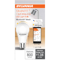 SYLVANIA SMART LED A19 Light Bulb, 60 Watt, Dimmable, Soft White, 1Pk