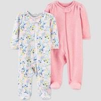 Baby Girls' 2pk Floral Sleep N' Play - Just One You® made by carter's Pink