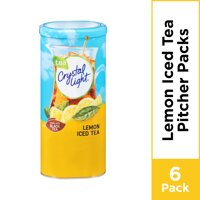 Crystal Light Lemon Iced Tea Powdered Drink Mix, 6 ct - 1.4 oz Can