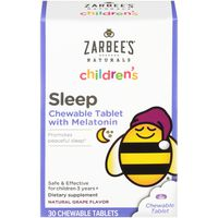 Zarbee's Naturals Children's Sleep Grape Chewable Tablets with Melatonin Dietary Supplement