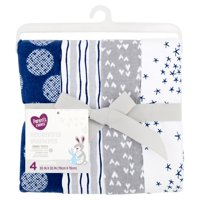 Parent's Choice Receiving Blankets, Blue, 4 Pack