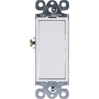 GE Grounding Paddle Rocker Switch, 3 Way, In Wall On/Off Power Switch Replacement for Ceiling Fans & Lights, 15 Amp, Great for Home, Office & Kitchen, UL Listed, White, 18233