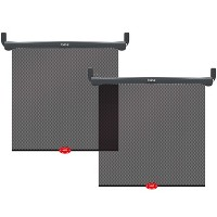 Munchkin Brica Sun Safety Car Window Rollershade with Heat Alert - Black 2pk