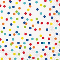 Dizzy Dots Paper Luncheon Napkins, 6.5in, 20ct