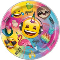 Emoji Paper Dinner Plates, 9in, 8ct