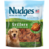 Nudges Grillers with Real Chicken Dog Treats, 16 Oz.