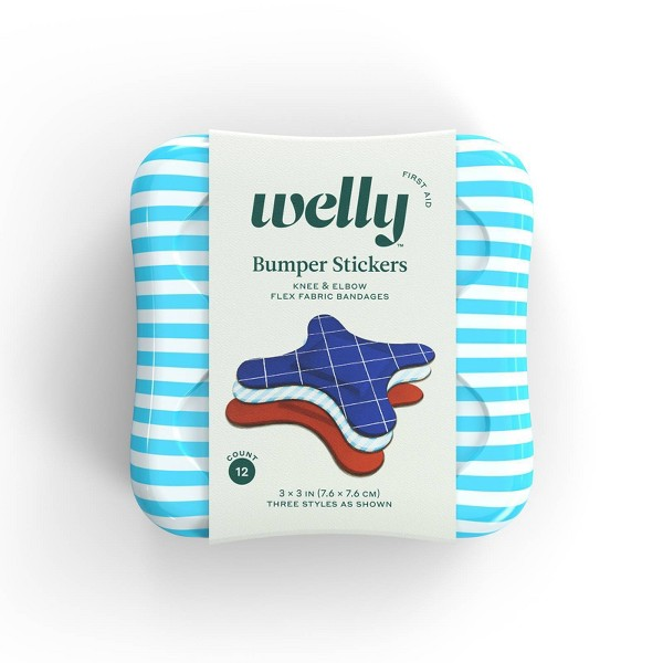 Welly Bumper Stickers Knee & Elbow Flex Fabric Bandages - 12ct