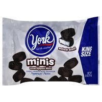 York Unwrapped Minis Dark Chocolate Covered Peppermint Patties Kings Size