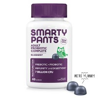 SmartyPants Probiotic Vegan Gummies - Blueberry - 40ct