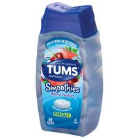 Tums Antacid, Calcium Carbonate, Extra Strength, 750, Chewable Tablets, Berry Fusion