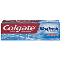 Colgate Max Fresh Travel Size Toothpaste with Mini Breath Strips, Cool Mint - 1.0 Ounce