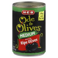 H-E-B Ode To Olives Medium Pitted Ripe Olives
