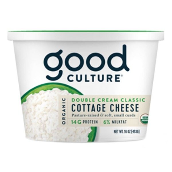 Good Culture Cottage Cheese, Small Curd, 6% Milkfat, Organic, Double Cream Classic
