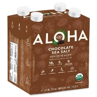 ALOHA Organic Vegan Plant-Based Protein Drink - Chocolate Sea Salt - 11 fl oz/4pk