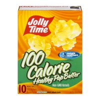 Jolly Time 100 Calorie Healthy Pop Butter Microwave Popcorn 1.2 Oz, 10 Ct