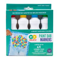 Go Create! Paint Dab Markers, 4 Pack