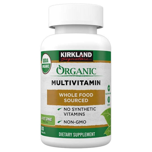 Kirkland Signature Organic Multivitamin Tablets 80 Ct From