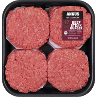 All Natural* 85% Lean/15% Fat Angus Steak Patties 12 Count, 4 lb