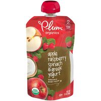 Plum Organics® Stage 2 Apple, Raspberry, Spinach & Greek Yogurt