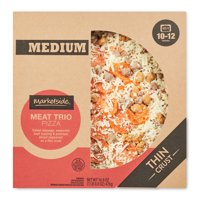 Marketside Meat Trio Pizza, Thin Crust, Medium, 16.8 oz