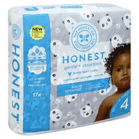 The Honest Company Diapers, Gentle + Absorbent, Pandas, 4 (22-37 Pounds)