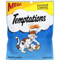 Temptations Hairball Control Cat Treats, Chicken Flavor, 4.9 Oz. Pouch