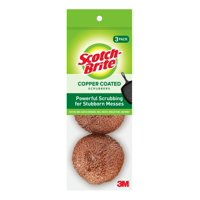 Scotch-Brite Copper Coated Scouring Pads, 3 Count